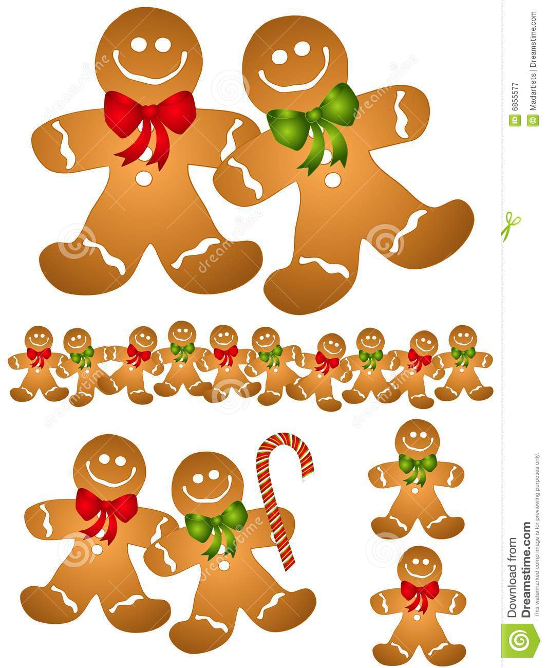 Gingerbread Man Border Clipart - Clipart Kid