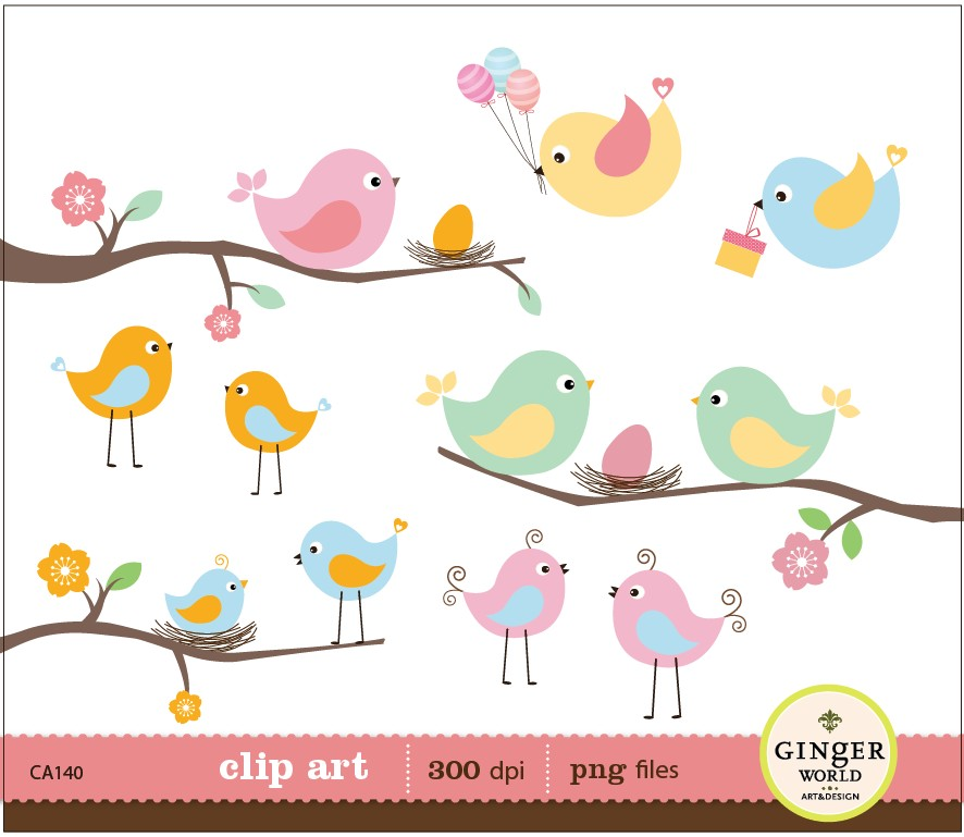 Bird Egg Nest Clipart Baby Bird Bird Family For By Gingerworld