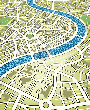 City Map Stock Vector Clipart Editable Vector Illustration Of A