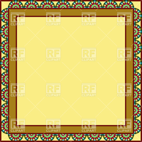 Clipart Catalog Borders And Frames Square Frame With Mosaic Edging