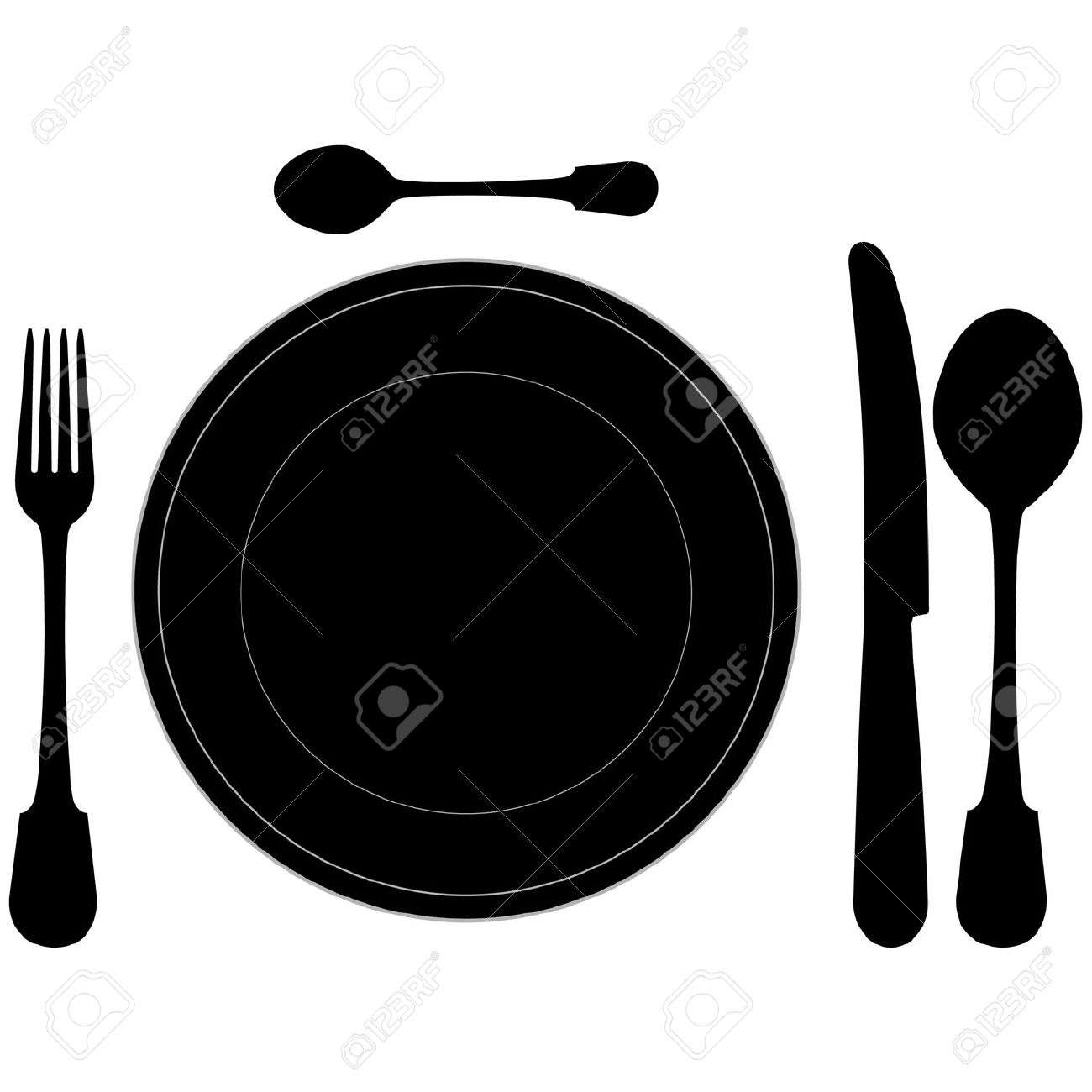 Dinner Table Setting Clipart   Weddingdecoration