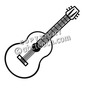 Electric Guitar Black And White Clipart - Clipart Kid