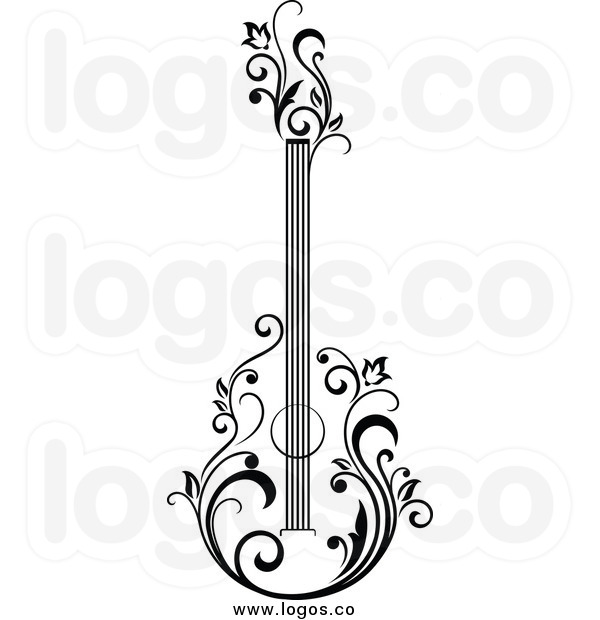 Electric Guitar Clipart Black And White   Clipart Panda   Free Clipart