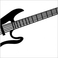 Electric Guitar Clipart Black And White Electric Guitar Clip Art