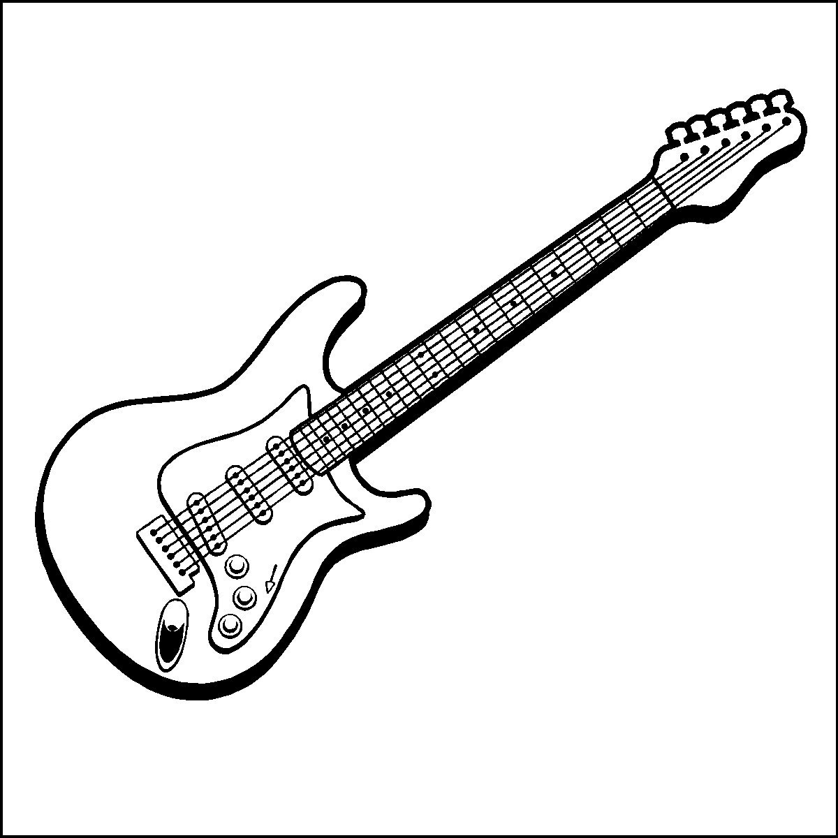 electric guitar black and white clipart clipart suggest