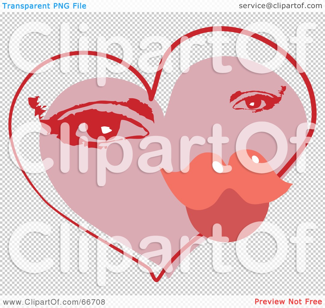 Free  Rf  Clipart Illustration Of A Valentine Heart With A Woman