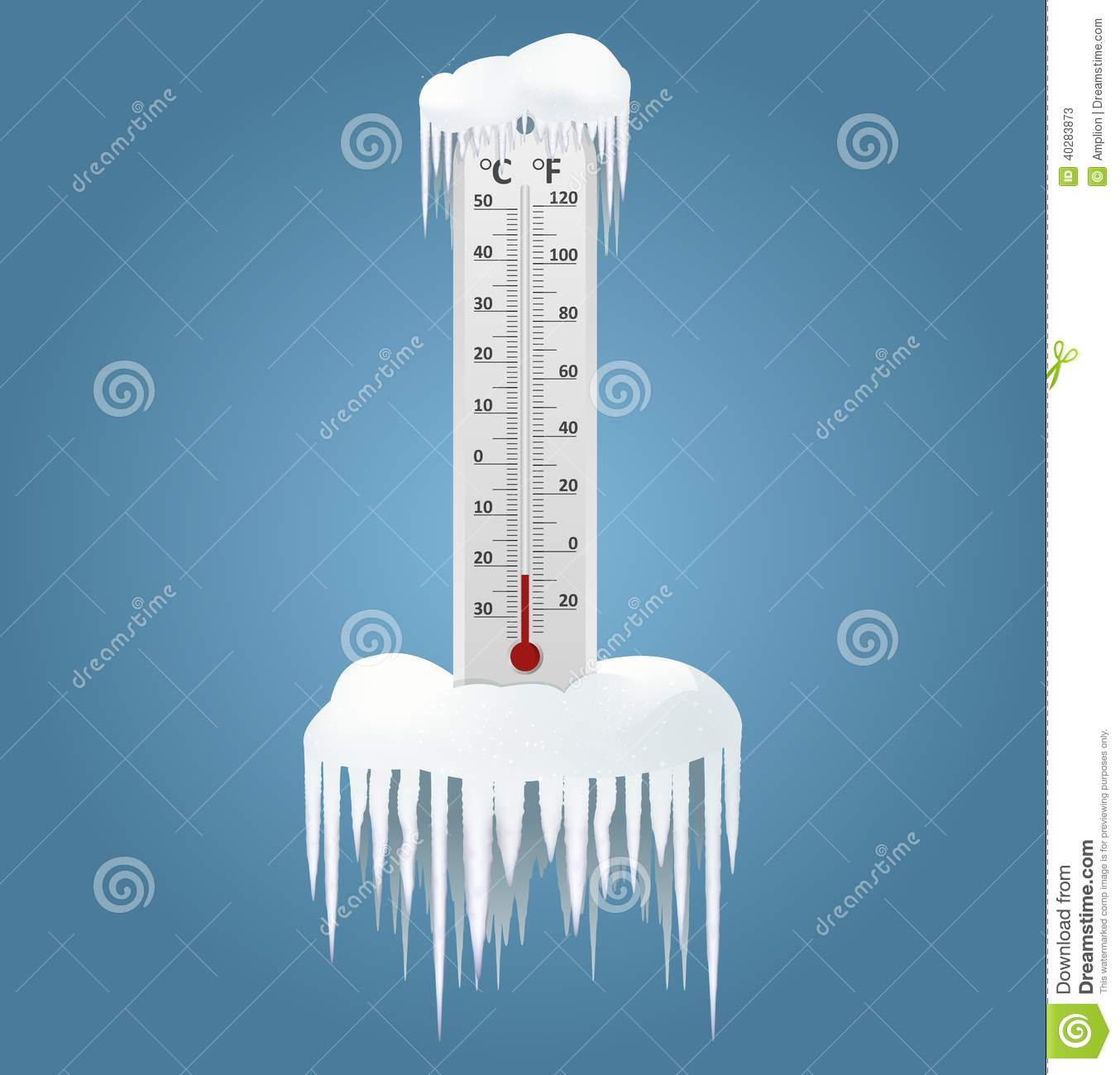 Frozen Thermometer Clip Art Frozen Thermometer Stock