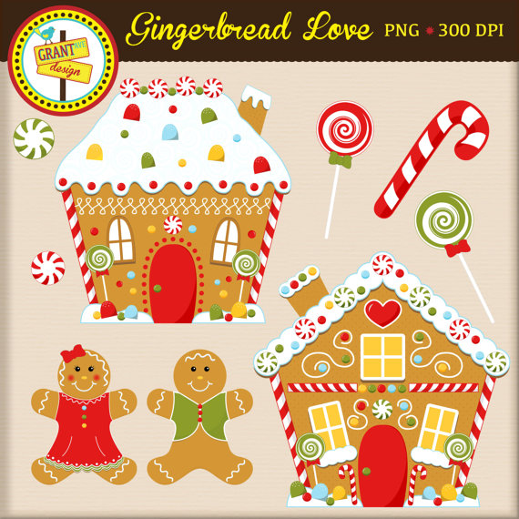 Gingerbread Clipart   Gingerbread Houses And People Clip Art