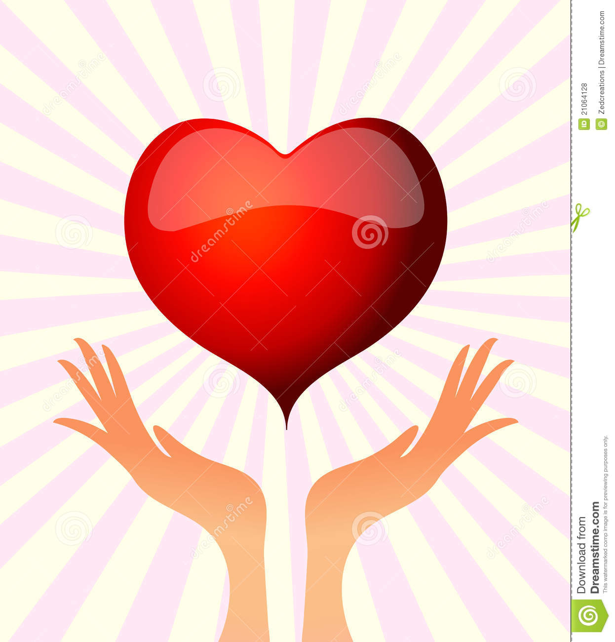 Hand Holding Heart Royalty Free Stock Photos   Image  21064128