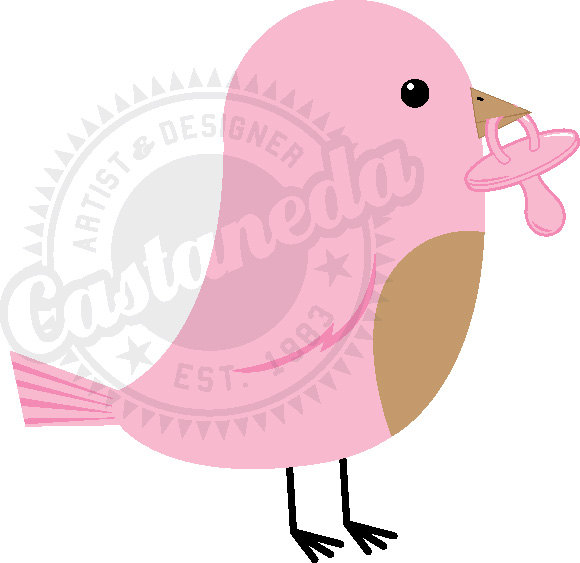 Pink Baby Bird Clipart By Gloriacastaneda On Etsy