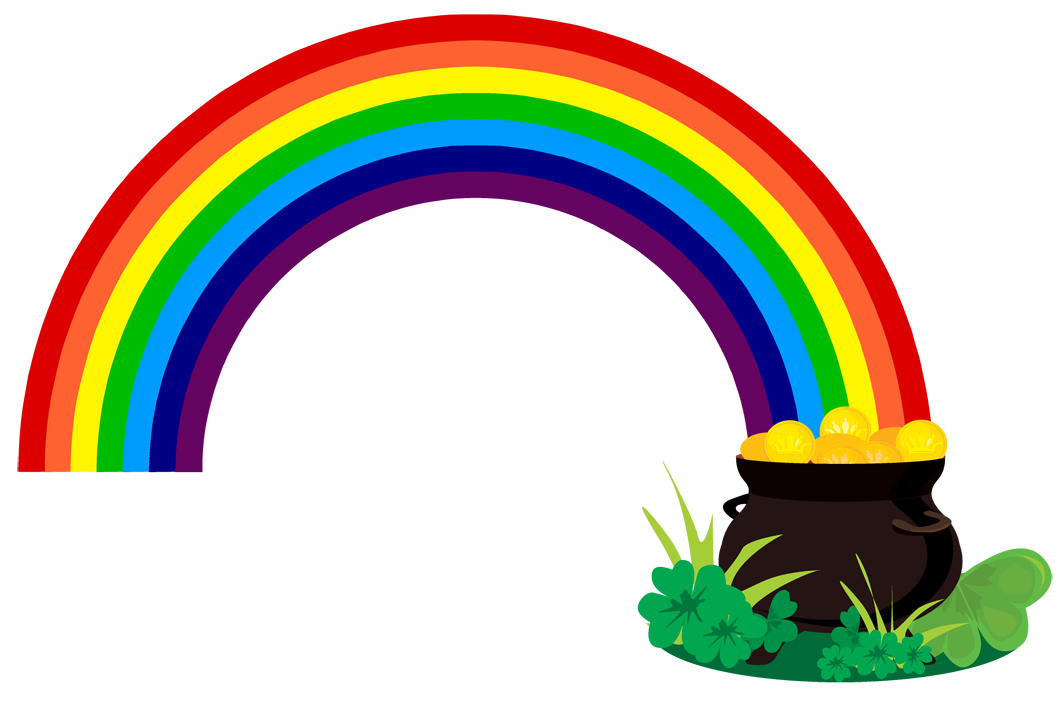 Rainbow Pot Of Gold Coloring Page   Clipart Panda   Free Clipart