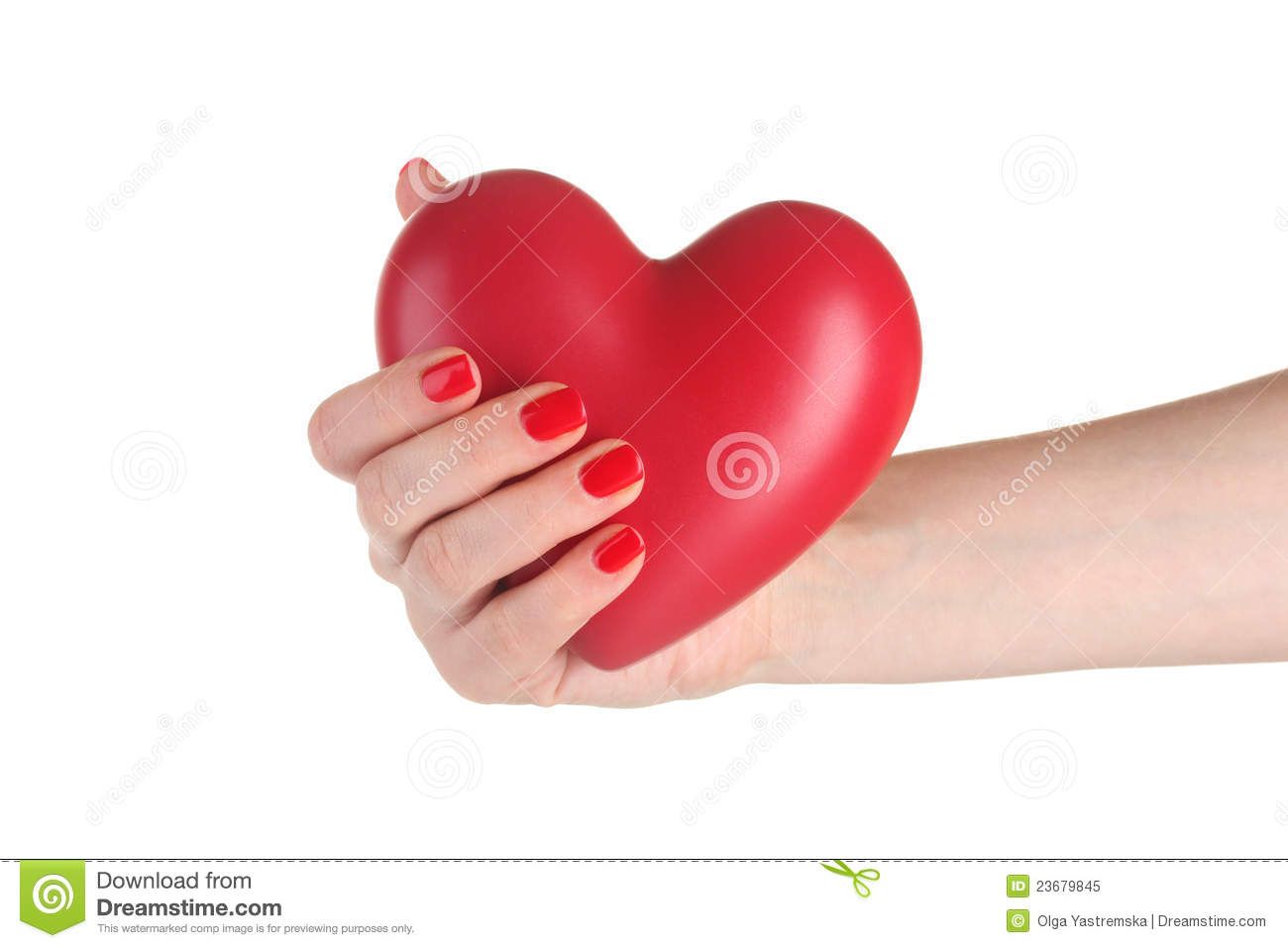 Red Heart In Woman S Hand Royalty Free Stock Photo   Image  23679845
