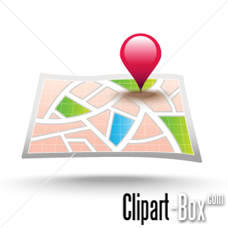 Related City Map Cliparts