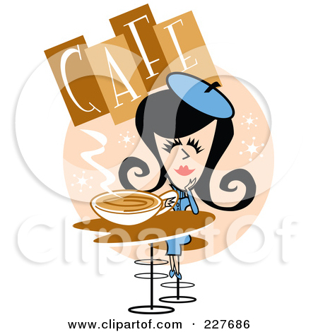 Royalty Free  Rf  Clipart Illustration Of A Retro Woman Artist Holding