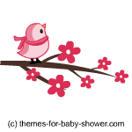 This Clipart Is Of A Cute Little Pink Baby Bird That Is Sitting On A