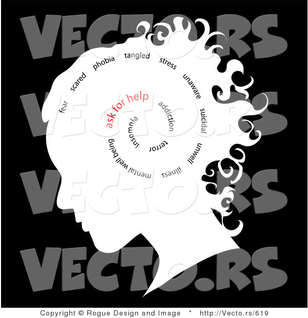 Words Inside Woman S Head Ask For Help By Pams Clipart    619