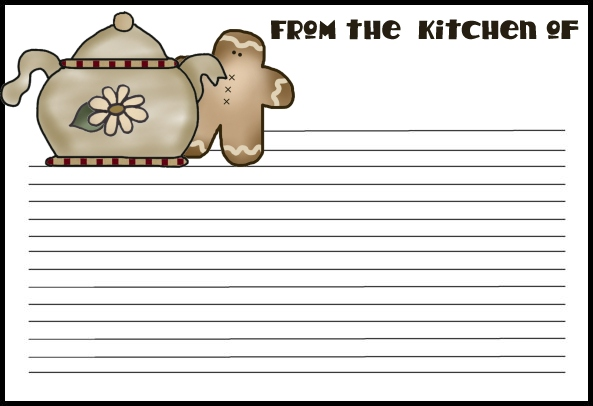 55  Free Printable Recipe Cards   A Nice Collection    Tipnut Com