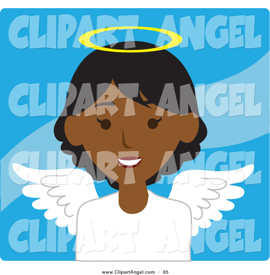 African American Angels Clip Art  Religious African American Clip Art