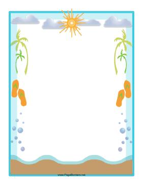 beach frame clipart