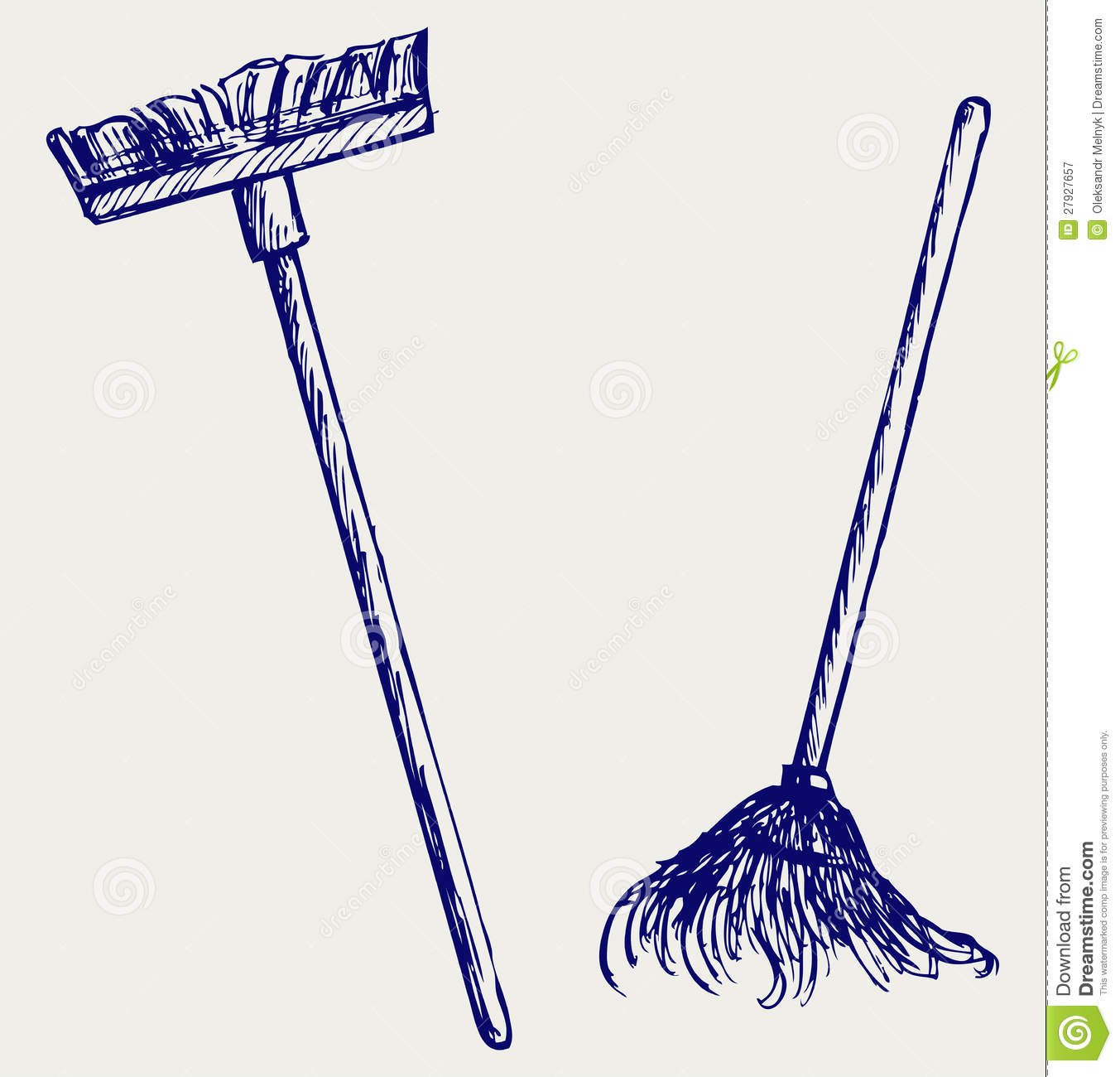 Mop And Broom Clipart