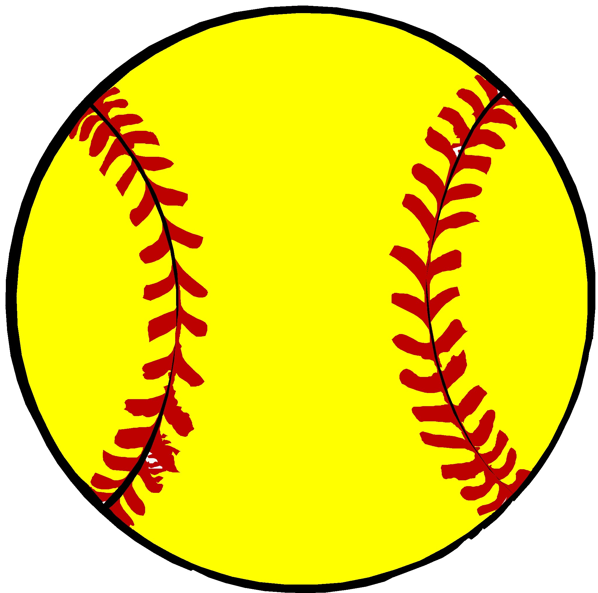 Cartoon Softball Pictures