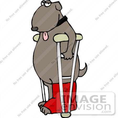 Clipart Of A Mutt Dog With His Tongue Hanging Oug Standing With A Red