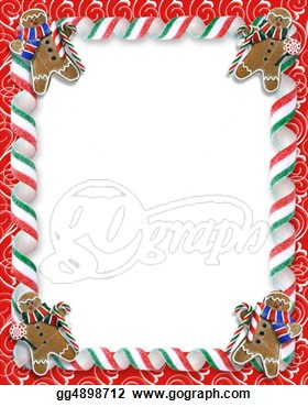 Cookies And Candy Border  Clipart Drawing Gg4898712   Gograph