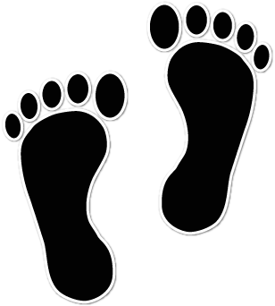 Baby Footprints Black And White Clipart - Clipart Kid
