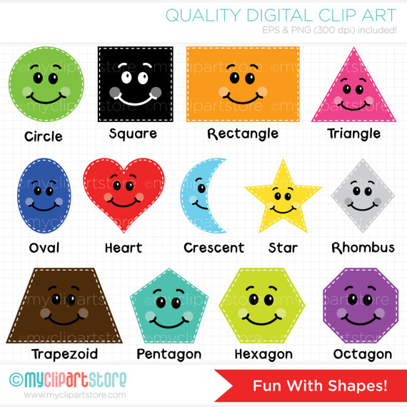 Clip Art Shapes Clipart all shapes clipart kid fun with educational teachers clip art digital clipart