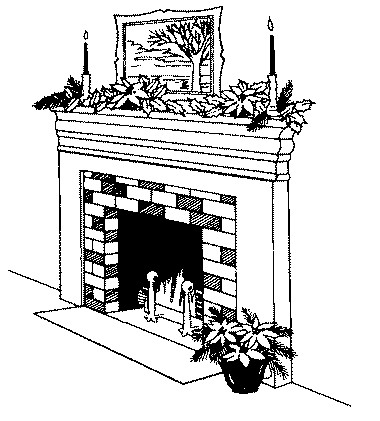 Non Transparent Fireplaces Clipart