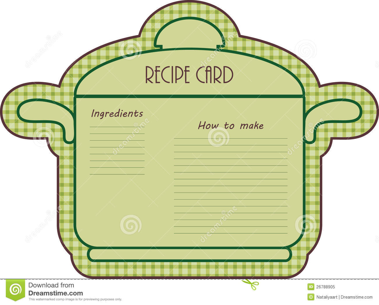 Recipe Card Royalty Free Stock Photo   Image  26788905