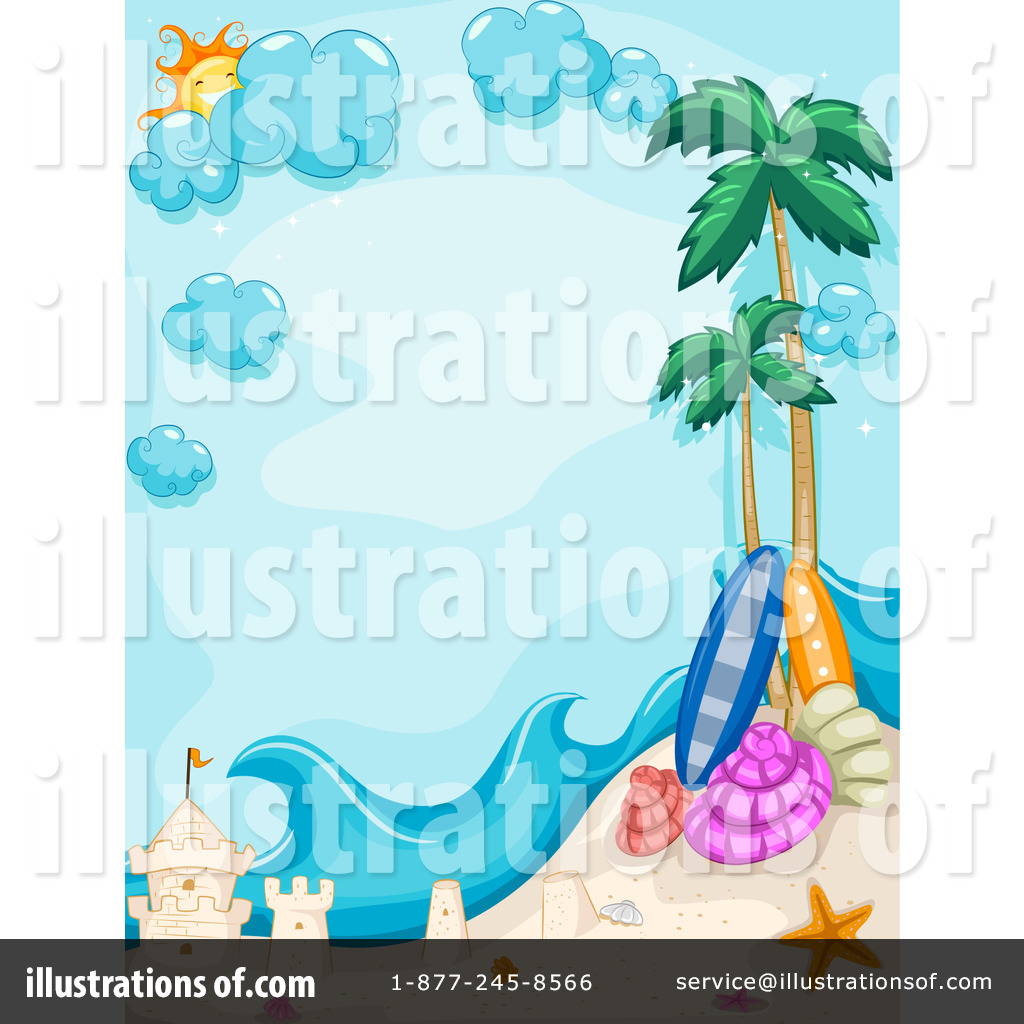 Royalty Free  Rf  Tropical Beach Clipart Illustration  1066588 By Bnp