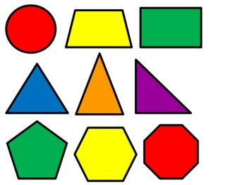 Image result for 2d shapes clipart
