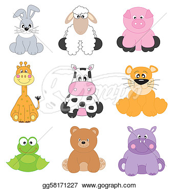 Vector Stock   Cartoon Animals   Stock Clip Art Gg58171227   Gograph
