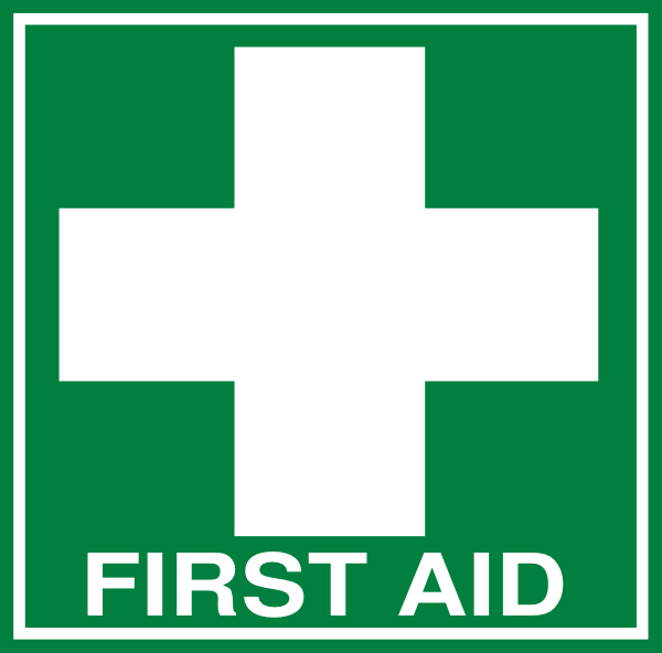 White First Aid Cross With Text  Dark Green  Clip Art At Clker Com