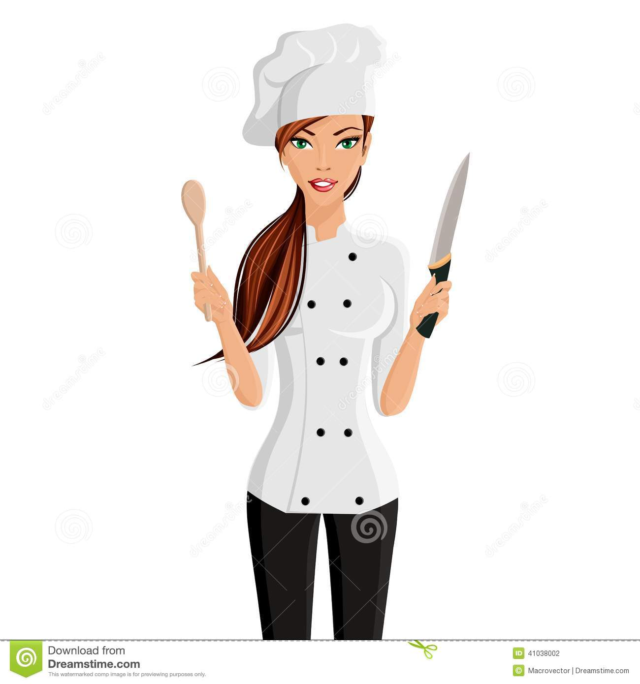 Woman Chef Portrait Stock Vector   Image  41038002