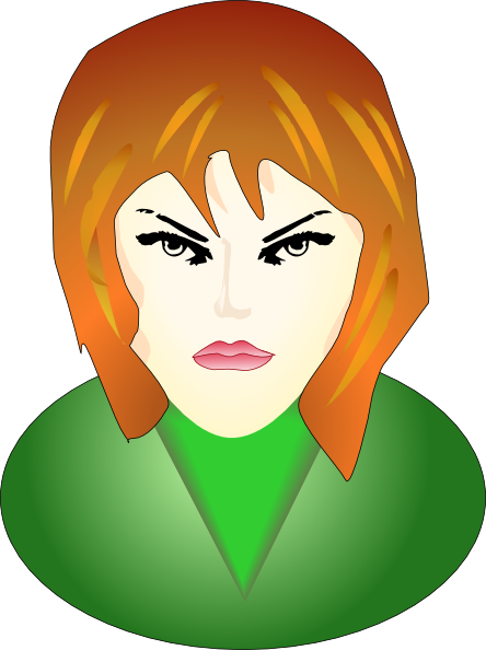 Angry Female Face Clip Art At Clker Com   Vector Clip Art Online