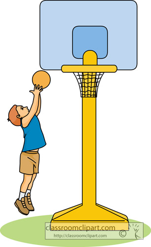 Basketball Clipart   Child Playing Basketball 22   Classroom Clipart