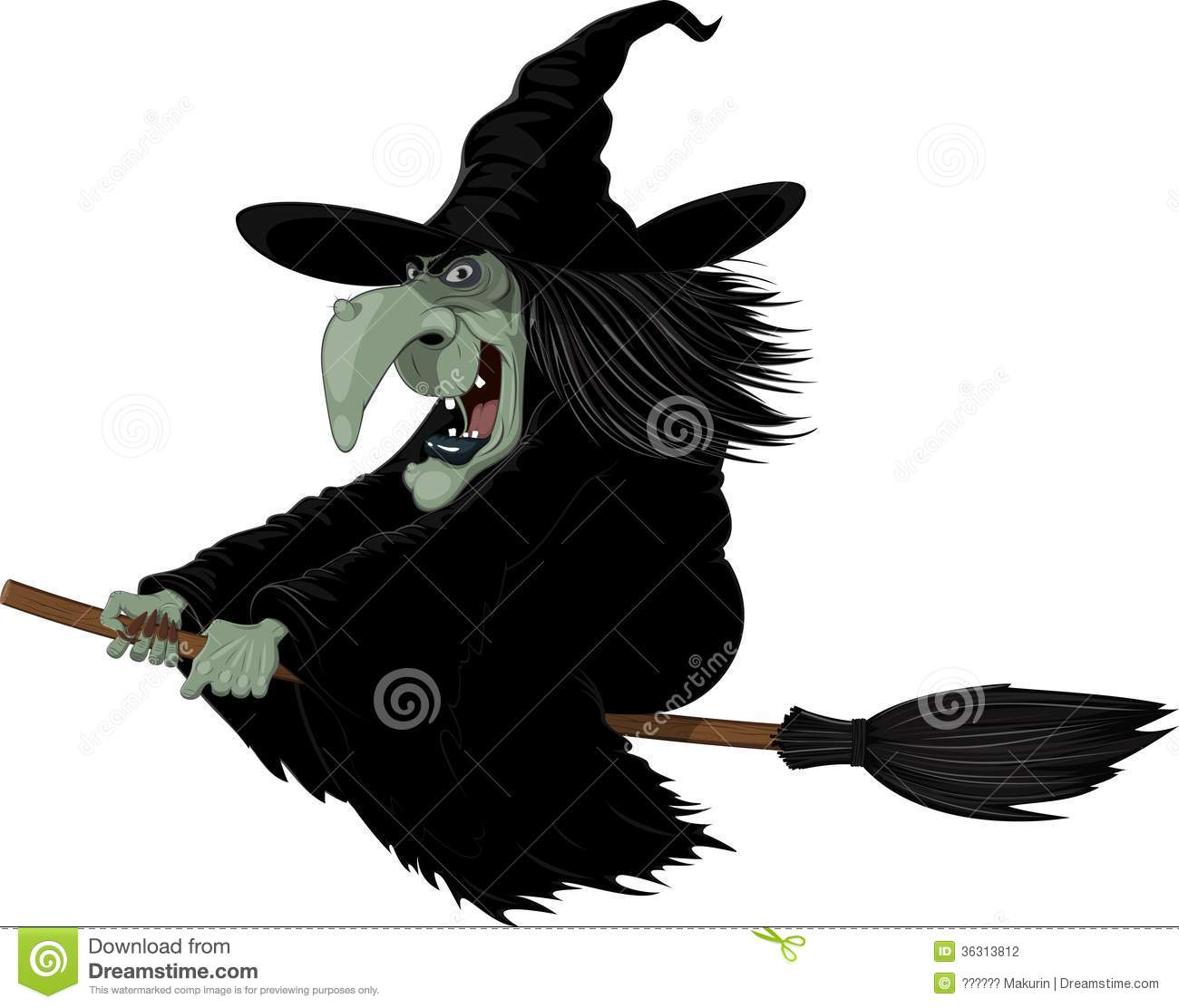 Evil Witch Clipart Illustration  Witch On