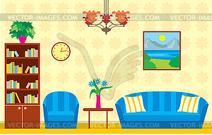 Living Room   Vector Clipart