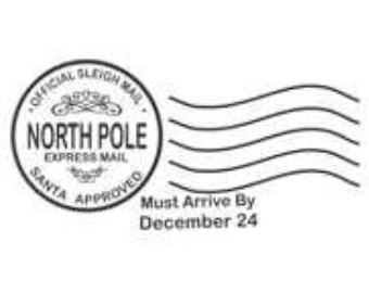 North Pole Postmark Rubber Stamp C653