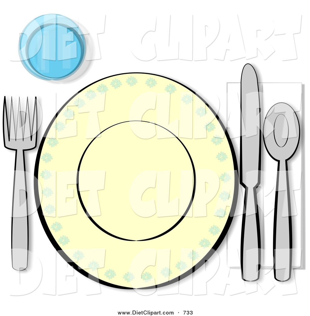 Dinner place setting clipart clipart suggest for Table place setting