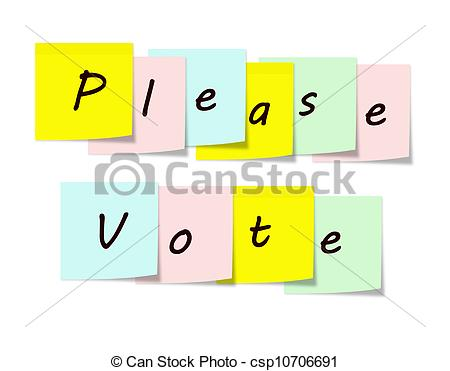Please Vote Written On Colorful    Csp10706691   Search Vector Clipart