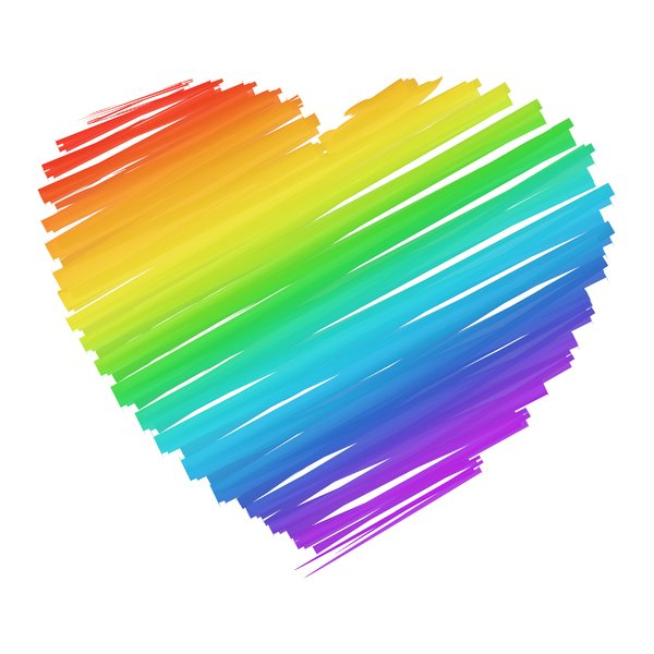 Rainbow Heart Pictures