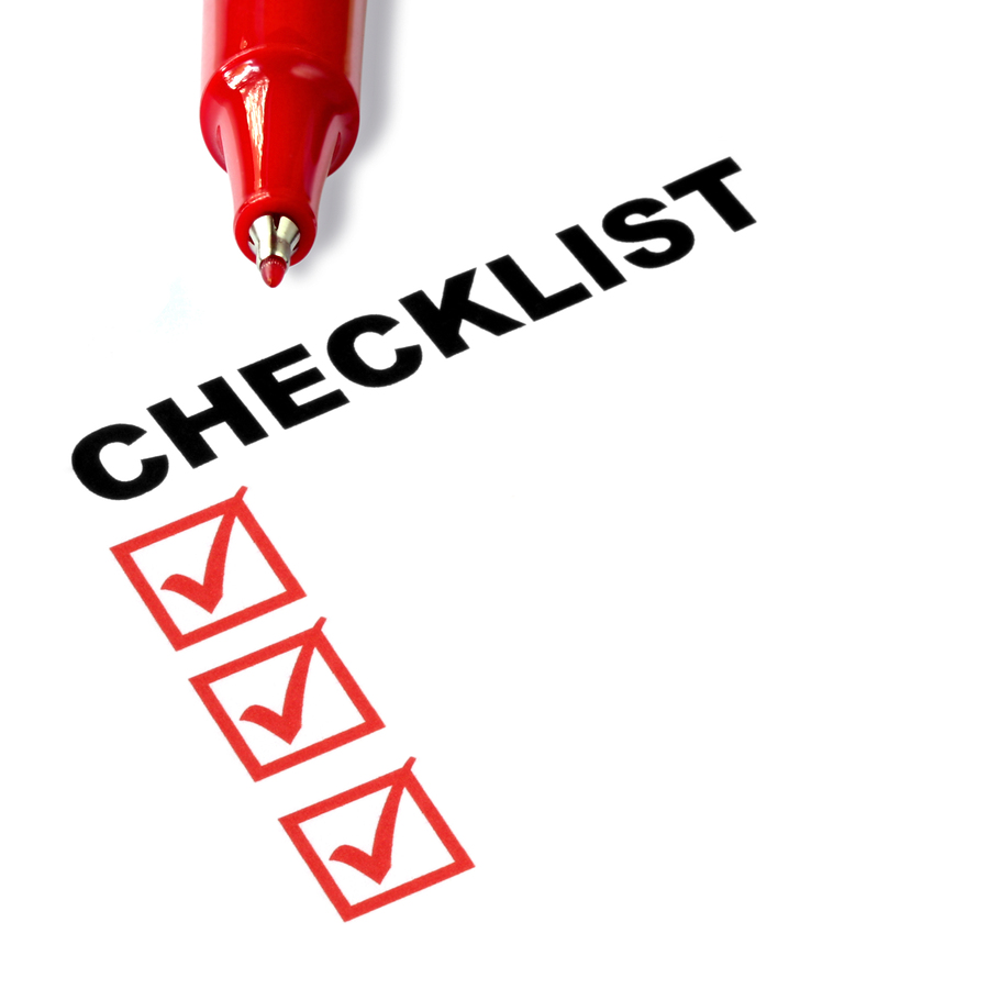 Safety Checklist Clip Art