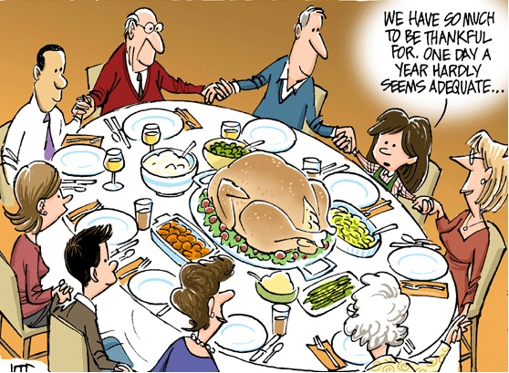 Thanksgiving Dinner Cartoon