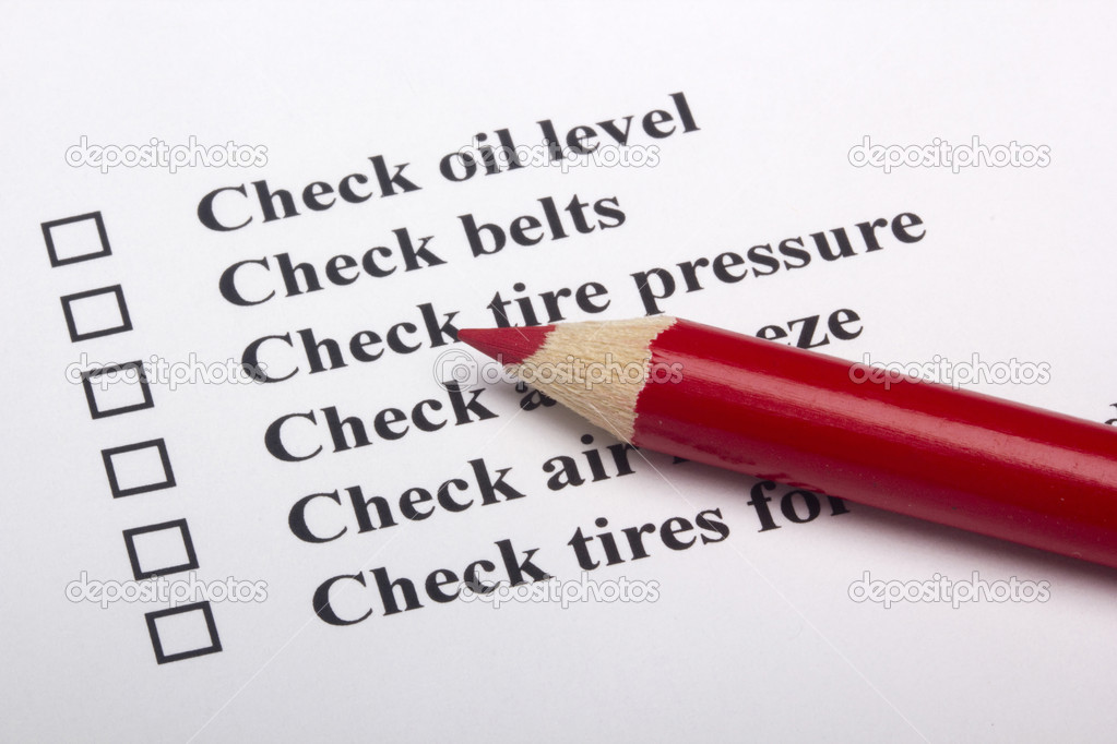 Vehicle Safety Checklist   Stock Photo   Vipdesignusa  5116955