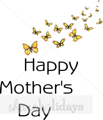 Butterfly Happy Mother S Day Clipart