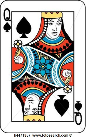 Clip Art   Queen Of Spades  Fotosearch   Search Clipart Illustration