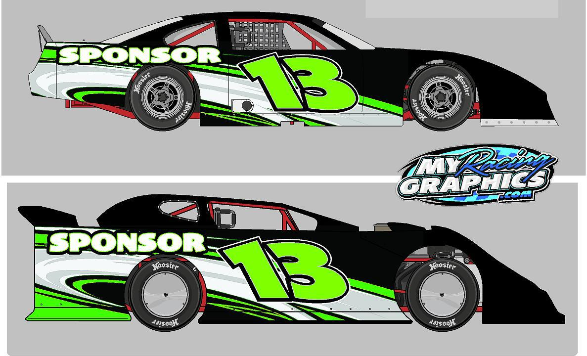 Dirt Modified Race Car Graphics Names And Sponsors  Race